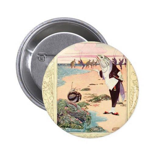 Alice in Wonderland - Beach Scene Pinback Button