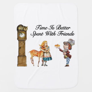 Alice In Wonderland Better With Friends Baby Blanket