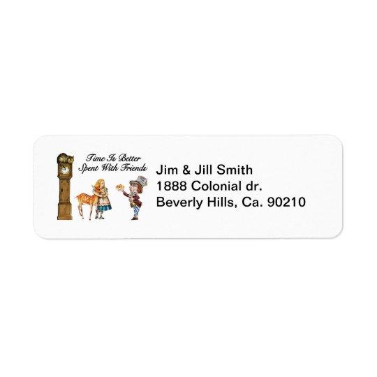 Alice In Wonderland Better With Friends Return Address Label