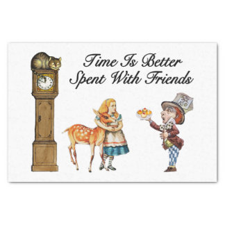 Alice In Wonderland Better With Friends Tissue Paper