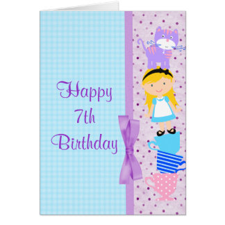Alice In Wonderland Birthday Celebration Card