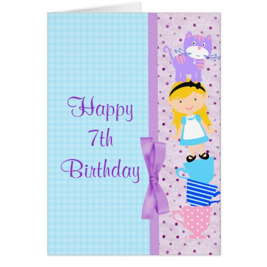 Alice In Wonderland Birthday Celebration Card