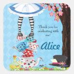 Alice in Wonderland Birthday Favour Stickers