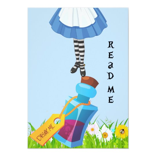 Alice in Wonderland Birthday Invite Queen of Heart