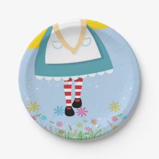 Alice in Wonderland Birthday paper plates