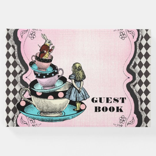 Alice in Wonderland Birthday Party Guest Book