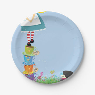 Alice in Wonderland birthday party paper plates