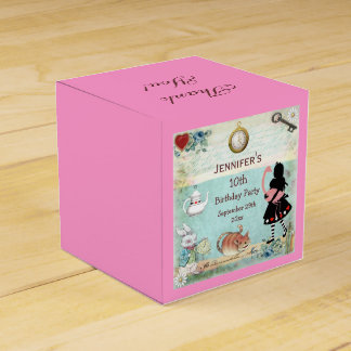 Alice in Wonderland Birthday Party Thank You Favour Box