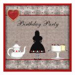 Alice in Wonderland Birthday Tea Party Invites