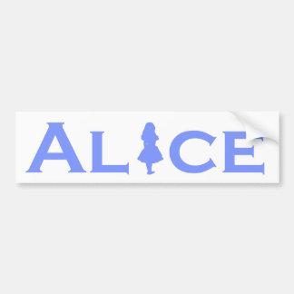 Alice in Wonderland Blue Bumper Sticker