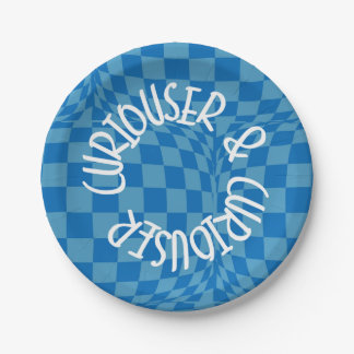 Alice in Wonderland - Blue Paper Plates Curiouser
