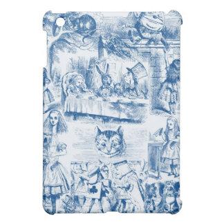 Alice In Wonderland Blue & White Toils iPad Mini Cases