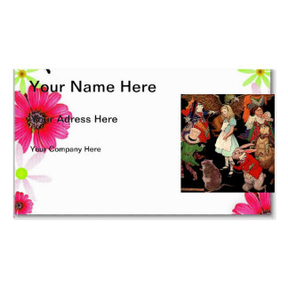 Alice in Wonderland Business Card Templates