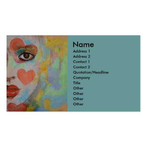 Alice in Wonderland Business Card Template