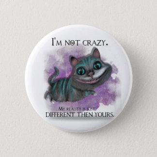 Alice in Wonderland button. 6 Cm Round Badge