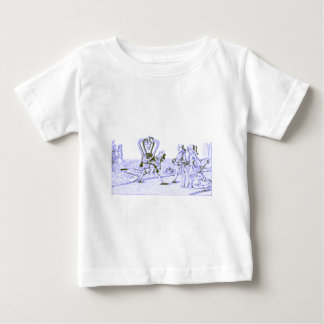Alice in Wonderland by Lewis Carroll Blue Ink Tint Baby T-Shirt