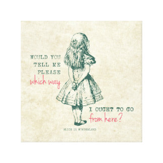 Alice in Wonderland Canvas Print