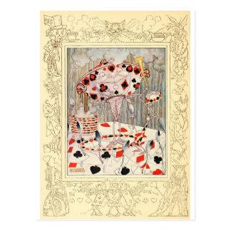 Alice in Wonderland Card Battle Postcard
