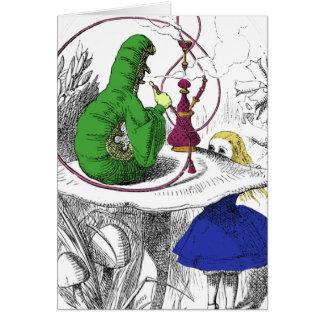 Alice in Wonderland Card - The Caterpillar