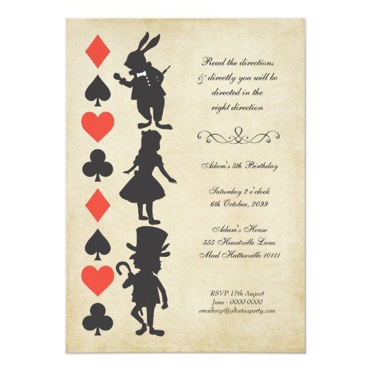 Alice in Wonderland Cards Tea Party Birthday