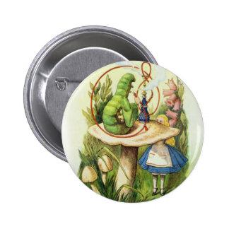 Alice in Wonderland Caterpillar Button