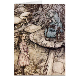 Alice in Wonderland Caterpillar Greeting Card