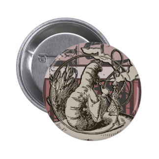 Alice In Wonderland Caterpillar Grunge (Pink) 6 Cm Round Badge
