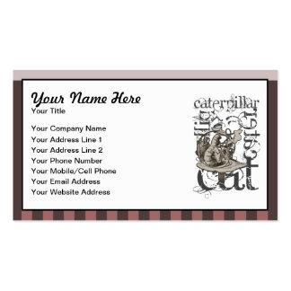Alice In Wonderland Caterpillar Grunge Pink Business Cards
