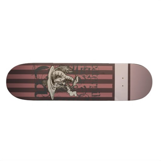 Alice In Wonderland Caterpillar Grunge (Pink) Skateboard