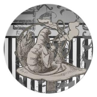 Alice In Wonderland Caterpillar Grunge Plate