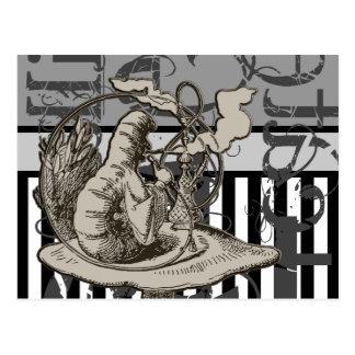 Alice In Wonderland Caterpillar Grunge Postcard