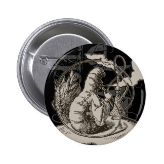 Alice In Wonderland Caterpillar Grunge (Single) 6 Cm Round Badge