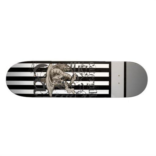 Alice In Wonderland Caterpillar Grunge Custom Skate Board
