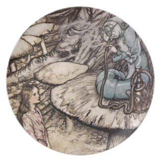 Alice in Wonderland Caterpillar Plate