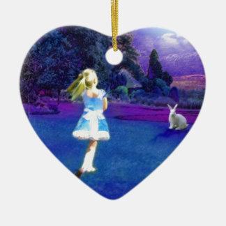 Alice in Wonderland Ceramic Heart Decoration