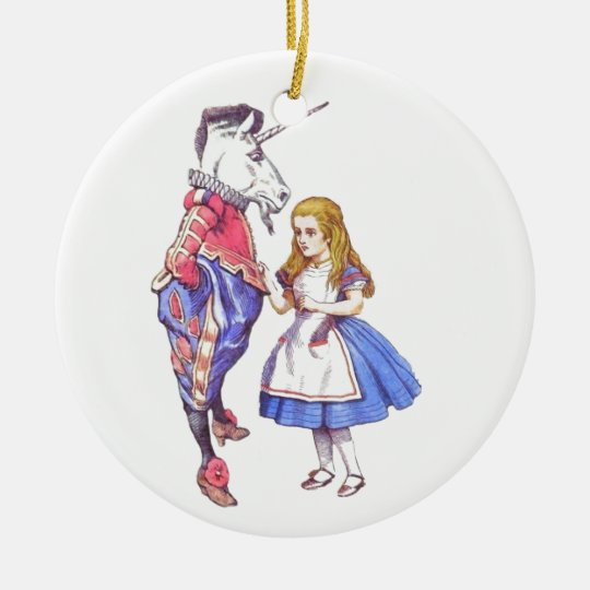 Alice in wonderland ceramic ornament