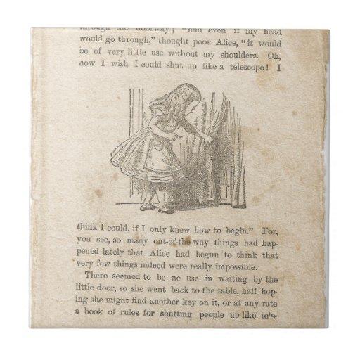 Alice In Wonderland, Chapter One, Down the Rabbit Ceramic Tiles