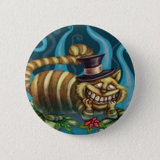 Alice in Wonderland Cheshire Cat 6 Cm Round Badge