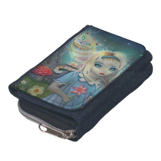 Alice in Wonderland Cheshire Cat Fantasy Art Wallets