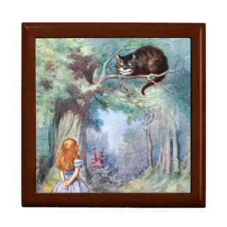 Alice in Wonderland Cheshire Cat Gift Box Tenniel