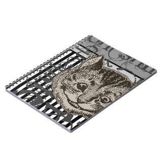 Alice In Wonderland Cheshire Cat Grunge Notebooks