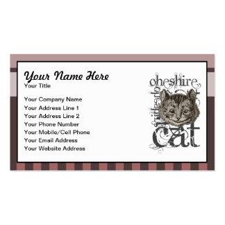 Alice In Wonderland Cheshire Cat Grunge Pink Business Card Templates