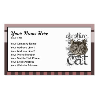 Alice In Wonderland Cheshire Cat Grunge (Pink) Pack Of Standard Business Cards