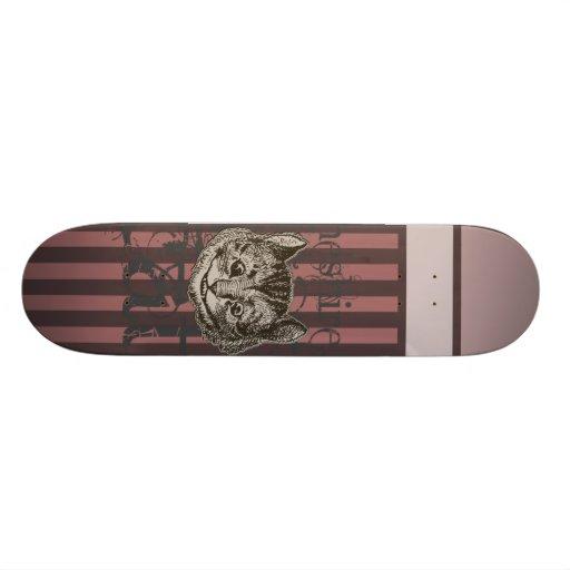 Alice In Wonderland Cheshire Cat Grunge (Pink) Skate Boards