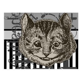 Alice In Wonderland Cheshire Cat Grunge Postcard