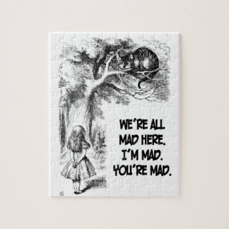 Alice in Wonderland Cheshire Cat Items Jigsaw Puzzle