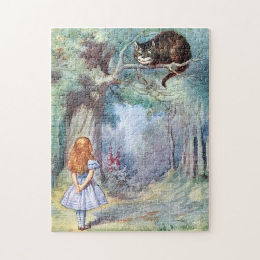 Alice in Wonderland Cheshire Cat Jigsaw Puzzle