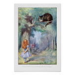 Alice in Wonderland Cheshire Cat Print Poster
