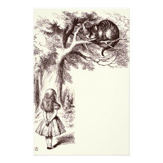 Alice in Wonderland Cheshire Cat Smile Personalized Stationery