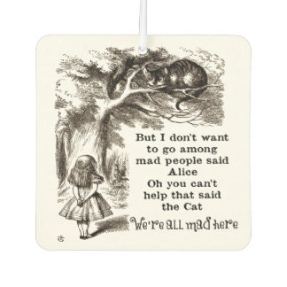 Alice in Wonderland; Cheshire Cat with Alice Car Air Freshener